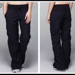 Lululemon Black Lined Dance Studio Pants Sz 4